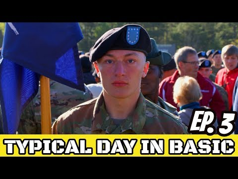 ARMY BASIC TRAINING: Typical Day In Army Basic Training Ep.3