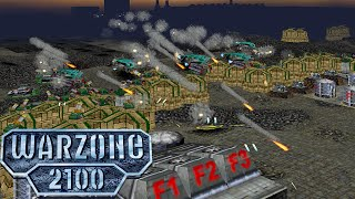 Warzone 2100 3v3 Team Armies - All techs available