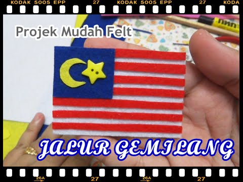 Simple Project No Sew Jalur Gemilang Felt Youtube