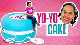 How To Make A Giant YoYo out of CAKE | RETRO Marbled Vanilla Cakes | Yolanda Gampp | How To Cake It