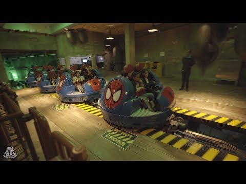 Spider Man Doc Ock's Revenge – POV – IMG Worlds of Adventure – MACK Rides – Spinning Coaster