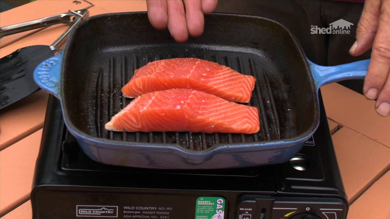The Shed Online  Cooking  Salmon On A Camp Stove