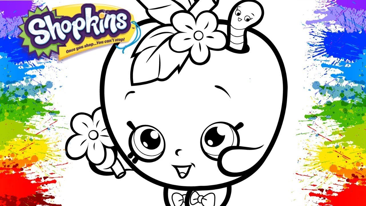 Shopkins Cartoon Colorindo Desenho Apple Blossom Videos Infantis