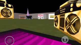 A glitch in a boom box world in roblox (iPad)