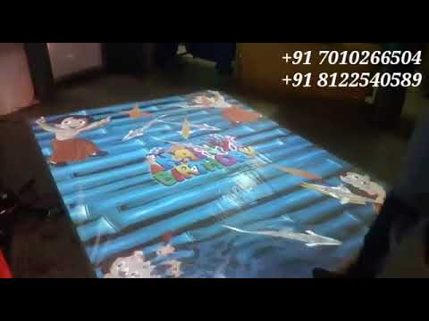 3D interactive Floor Design Decoration India +91 8122540589
