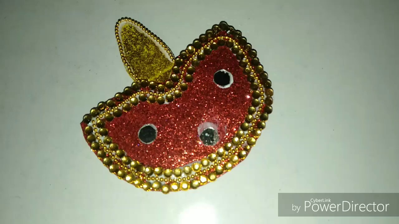 Easy Crafting With Glitter Paper Ll Diwali Ideas Ll Decorative Diya Youtube
