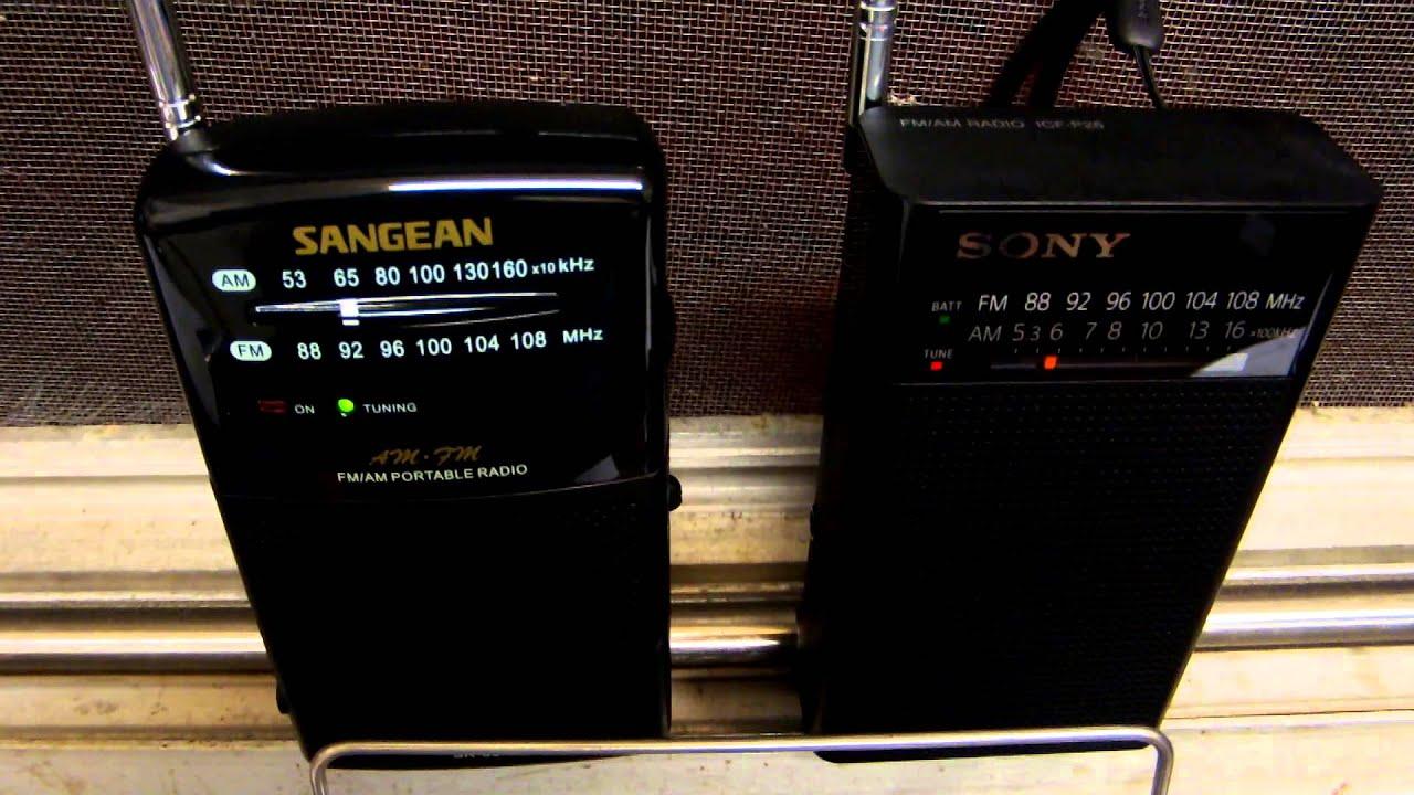 dscf2929 radios sony icf p26 sangean sr 35 youtube