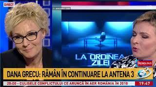 Dana Grecu: Rămân în continuare la Antena 3