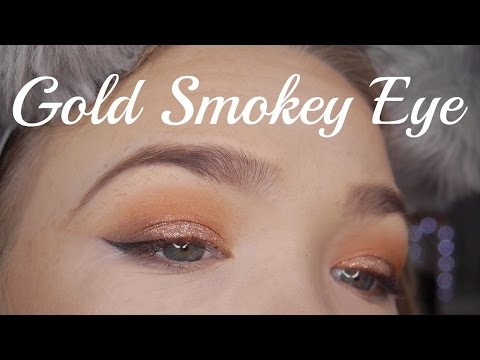 Chatty simple gold smokey eye tutorial | Makeup Junkie G