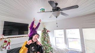 HIDDEN CHRISTMAS PRESENTS!! (stuck in the fan) HIDE N SEEK