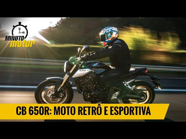 CB 650R: moto retrô com alma esportiva
