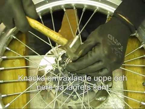 byta lager bakhjul cykel