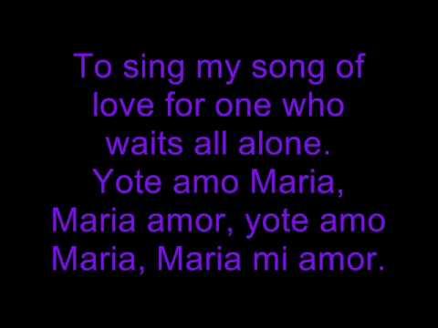 roy orbison yo te amo maria lyrics