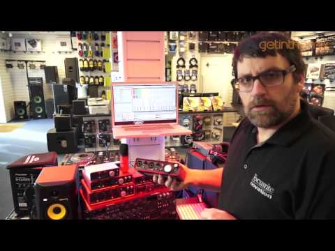 Chris from  Focusrite gives information on what kit to use. DJ Producer Re-Mixer