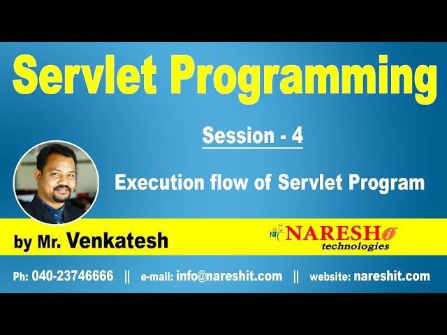 Servlet Tutorial | Execution flow of Servlet Program Part 4 | Mr.Venkatesh