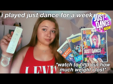 can you lose weight playing just dance | i played just dance for a week and this is what happened