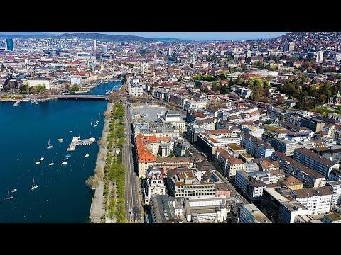 Drone Views Of Switzerland In 4k: Zurich - Oberdorf, Niederdorf & Seefeld