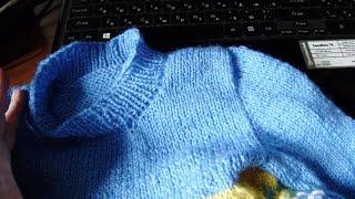 Как легко связать втачной рукав? Вязание с LusiTen