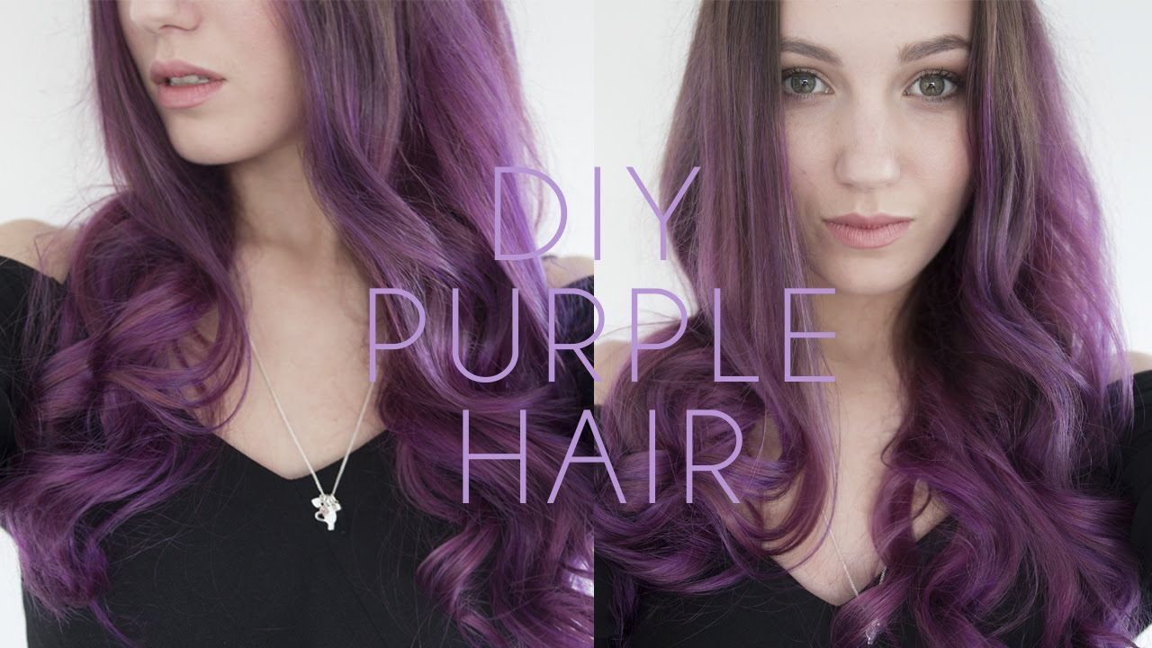 Purple Hair Dye Tutorial - How to Dye your Hair at Home ...