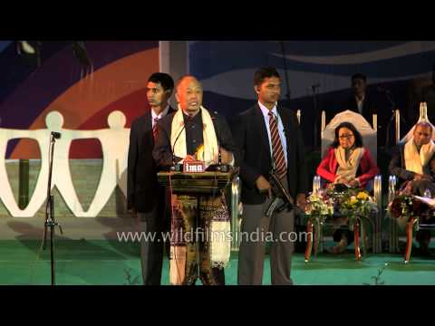 CM Ibobi Singh at Sangai Fest 2013