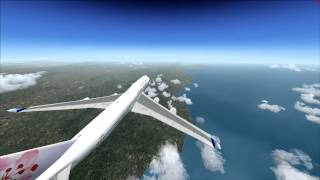 Flight Simulator 2004 Taipei to Los Angeles by China Airlines