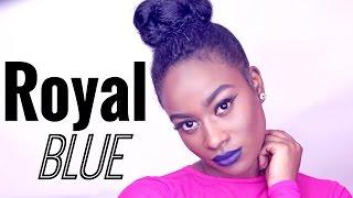 Royal Blue Makeup Look