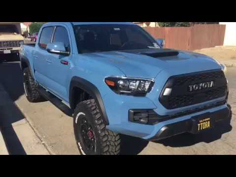 CAVALRY BLUE TRD PRO 2018 Off-roading (Update) - YouTube