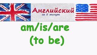 Глагол to be (am/is/are) утверждение и отрицание в английском языке с помощью am is are