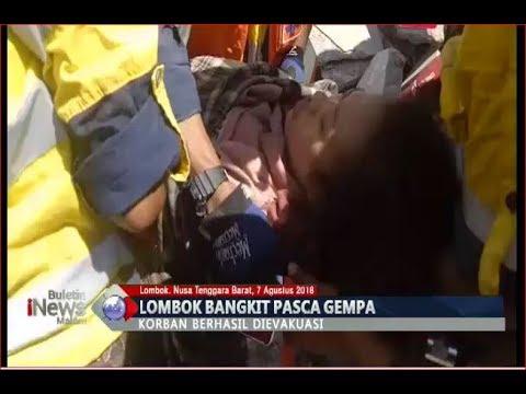 Detik-detik Evakuasi Korban Selamat Gempa Lombok yang Tertimpa Reruntuhan Bangunan - BIM 07/08