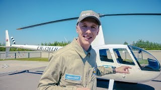 Пилотирование вертолёта Robinson R44