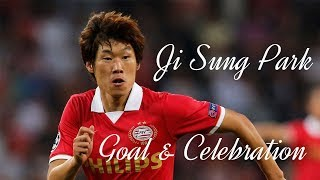 Ji Sung Park Goal & Celebration (PSV, MANU, KOREA )