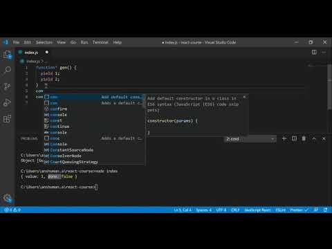 React Tutorial 35 - Iterators and generators