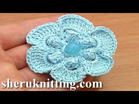 Easy Crochet Stitches Youtube : ... Stitch 6-Petal Flower Tutorial 67 Easy Flower to Crochet - YouTube