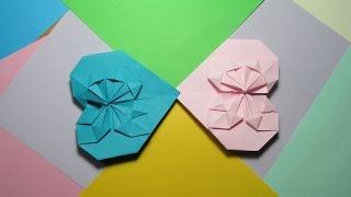 ЗАКЛАДКА - СЕРДЕЧКО.  Красивое Оригами из Бумаги. Видео(В этом видео я покажу, как сделать красивую ЗАКЛАДКУ - СЕРДЕЧКО из бумаги.Эта поделка - оригами очень легкая..., 2015-01-18T14:21:27.000Z)