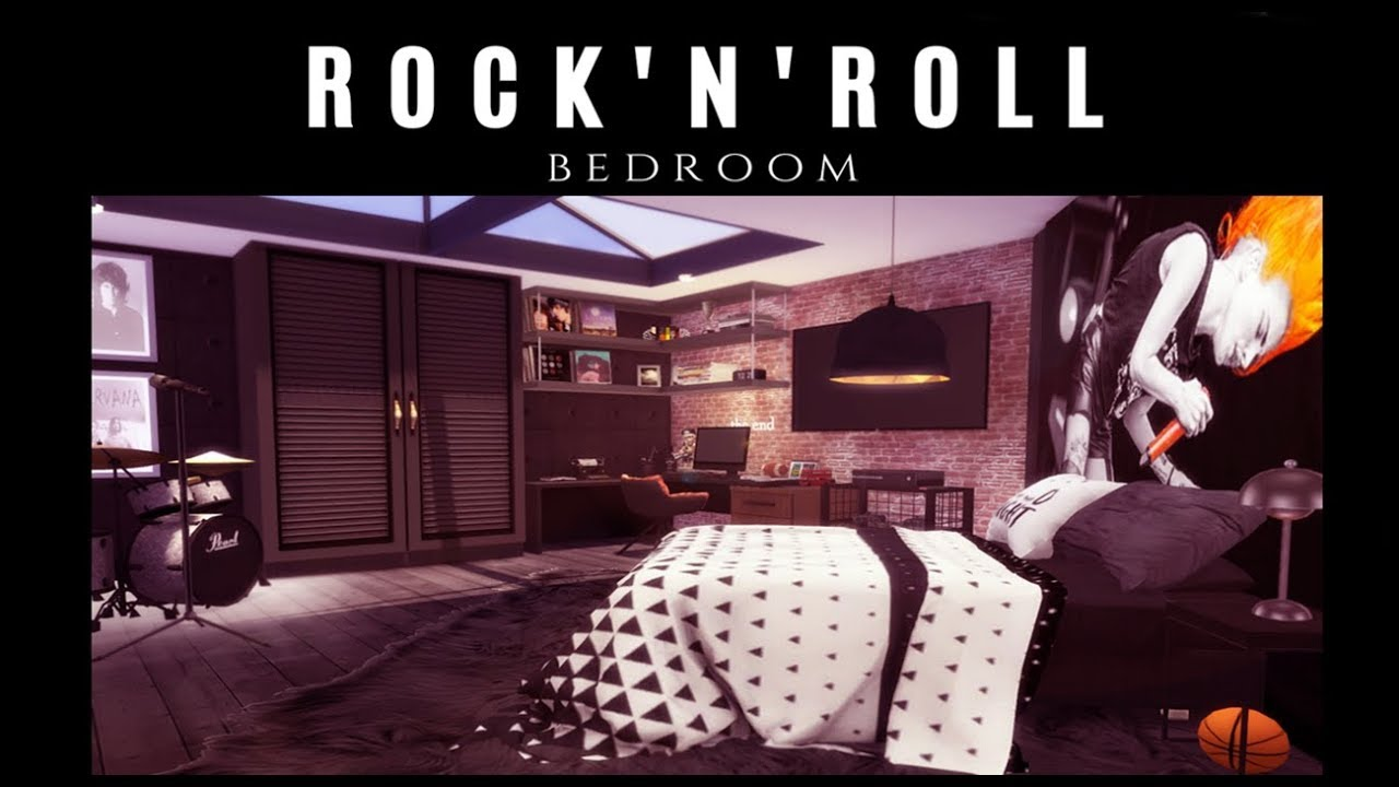 Rock\'N\'Roll Bedroom | The Sims 4 | Speed Build + Download
