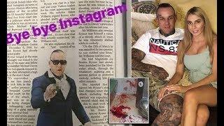 Rebels bikie Chris Rymer quits Instagram