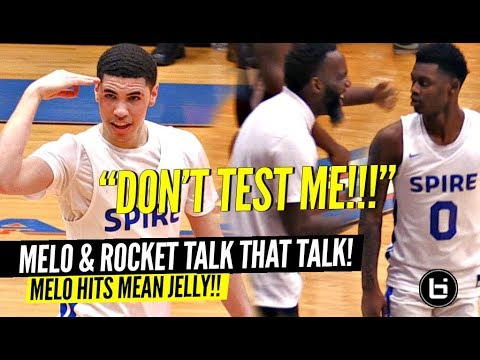 "LaMelo Ball ""DON'T TEST ME"" Melo & Rocket CLOWNIN' On Defenders & TALKIN TRASH In Semi-Finals!!"