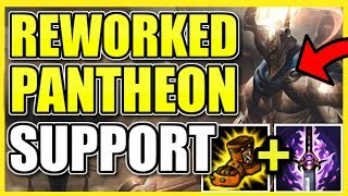 (NEW) REWORKED PANTHEON IS A *SUPPORT* NOW?! BEST ROAMS AND PLAYMAKING IN SEASON 9! Pantheon Support