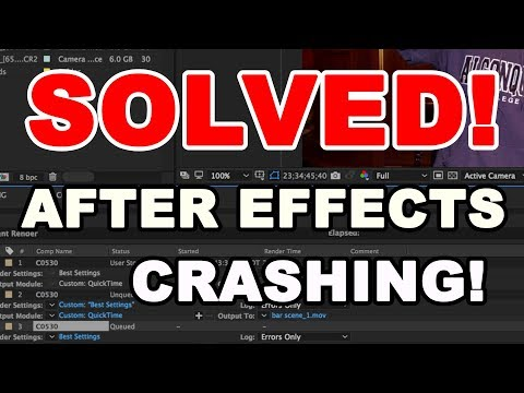 SOLVED: AFTER EFFECTS Crashing!!!! How to Render!