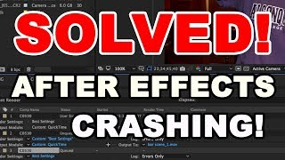 How to Fix After Effects Error Writing to File