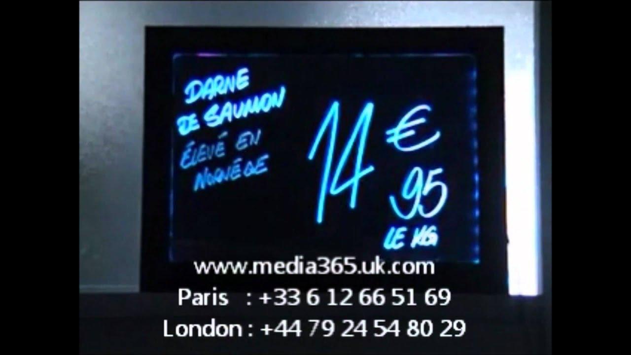 ardoise lumineuse hannouf media group youtube. Black Bedroom Furniture Sets. Home Design Ideas