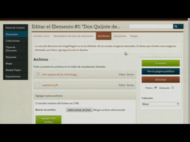 EVILINHD - Crear una biblioteca digital con Omeka