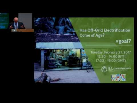 IEG Event: Has Off-Grid Electrification Come of Age?, February 21, 2017