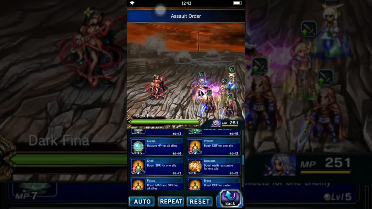 FFBE GLOBAL Perfectly chained Divine Ruination (27 elemental chain) #13