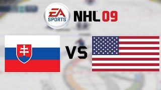 SVK - USA | NHL 09 | #1