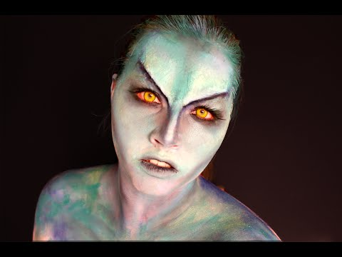 Star Trek Inspired Glam Alien Sfx Makeup Youtube