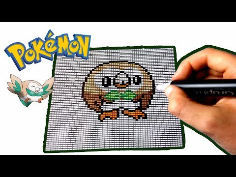 Pixel Art Pokemon Brindibou Rowlet Youtube