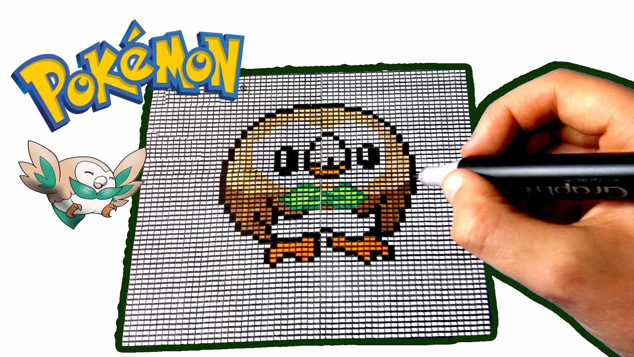 Pixel Art Pokemon Brindibou Rowlet