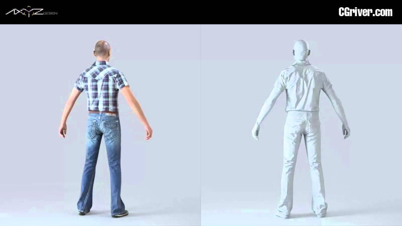 AXYZ's FREE Rigged & Animated Human Model for Cinema 4D (VRay materials  also included) - CGriver com