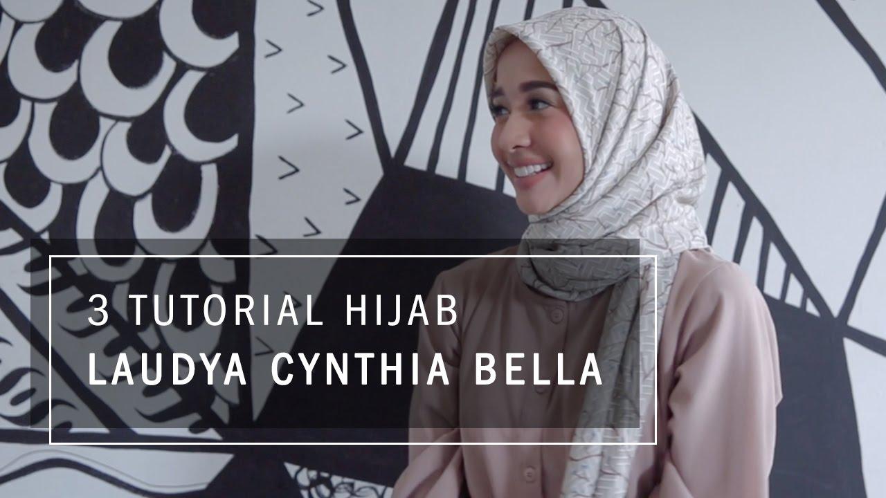 Tutorial Hijab Paris Segi Empat Sehari Hari Ala Laudya Cynthia Bella